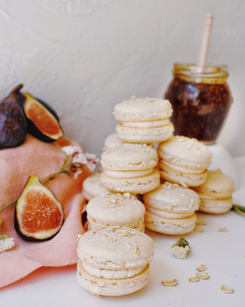 Pile of Fig Cobbler Macarons