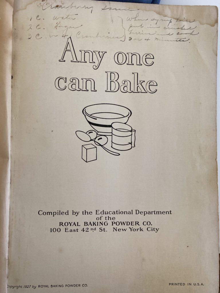 Cookbook Cover for Any on can Bake