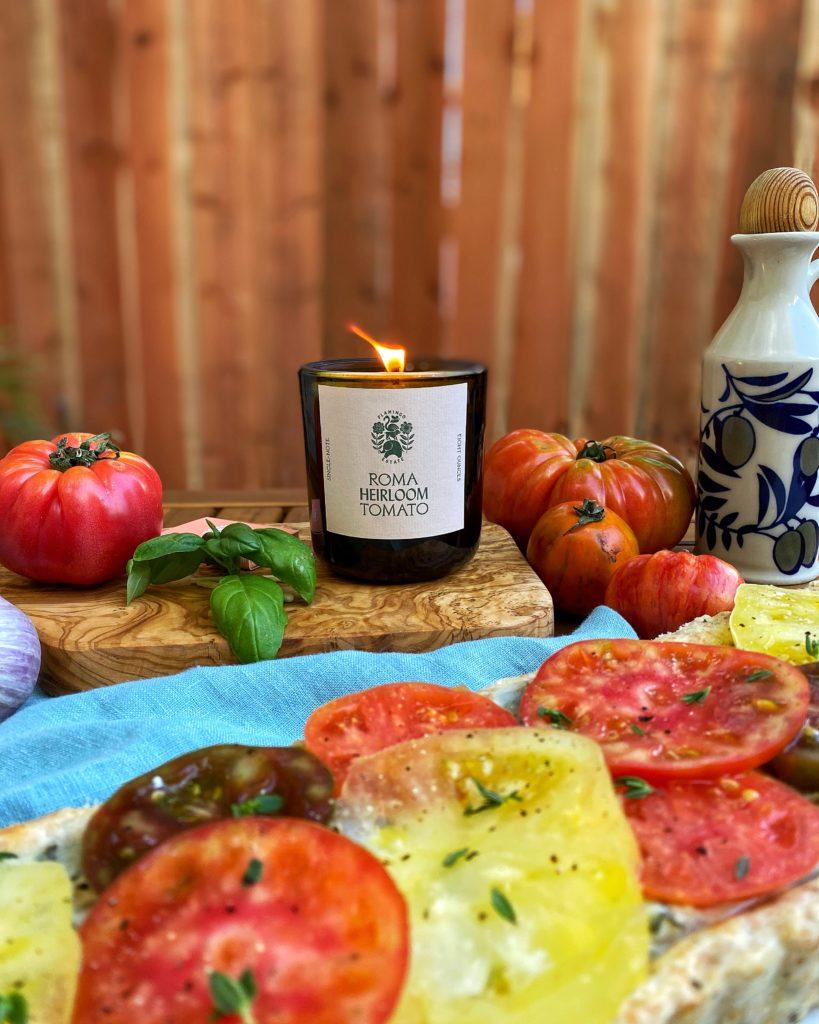 Roma Heirloom Tomato Candle, Flamingo Estate
