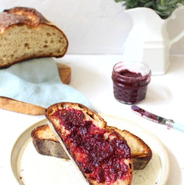 Toast with homemade jam