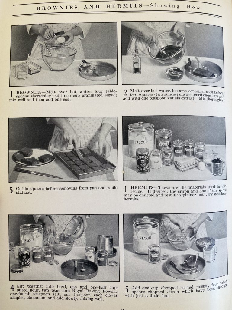 Vintage Cooking Instructions with Pictures