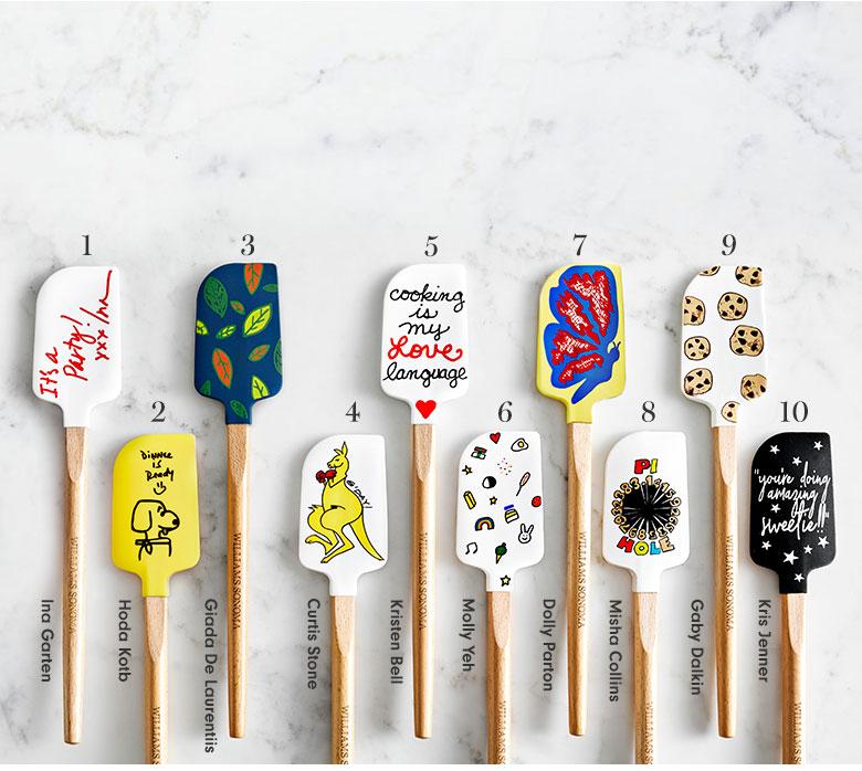 Different spatulas from Williams Sonoma