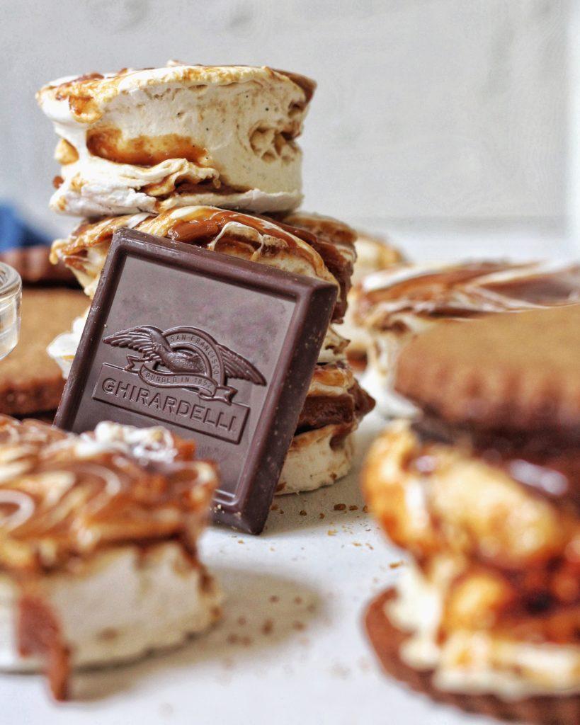 Dark chocolate sea salt caramel smore, Ghirardelli Chocolate
