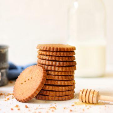 stack of homemade graham crackers