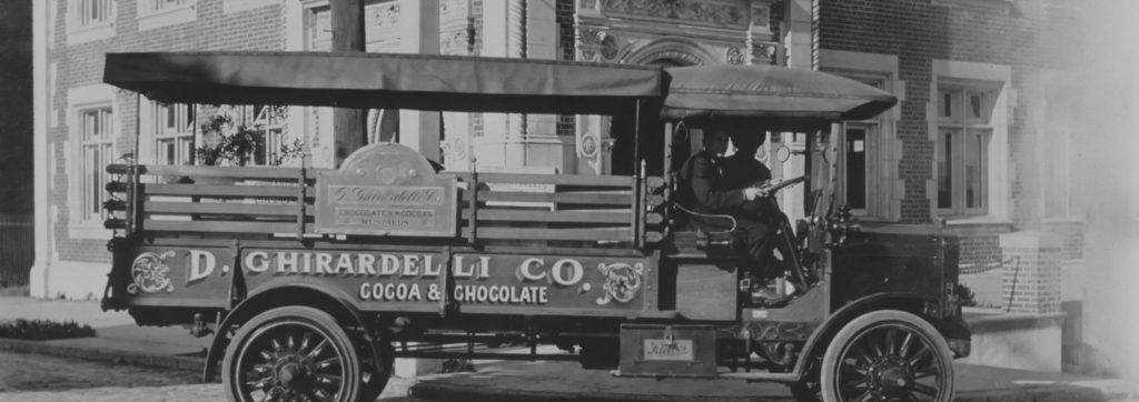 Vintage Ghirardelli Car