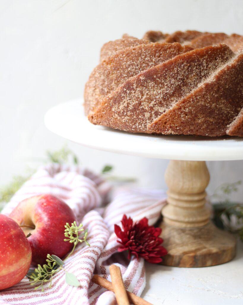 Apple cider donut cake