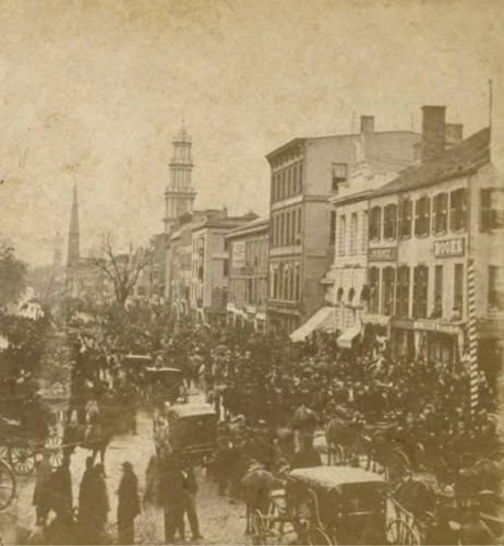 Election day, Main Street, Hartford, 1867 - Connecticut Historical Society